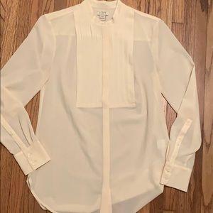 Cream tuxedo shirt